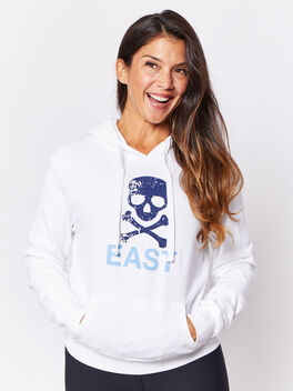 EH CALL LETTER CROPPED HOODIE, White, large