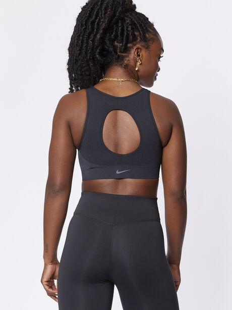 Seamless Sports Bralette, Black/White, large image number 1