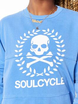 Split Seam Derek Sweatshirt Crest Blue, Blue, large