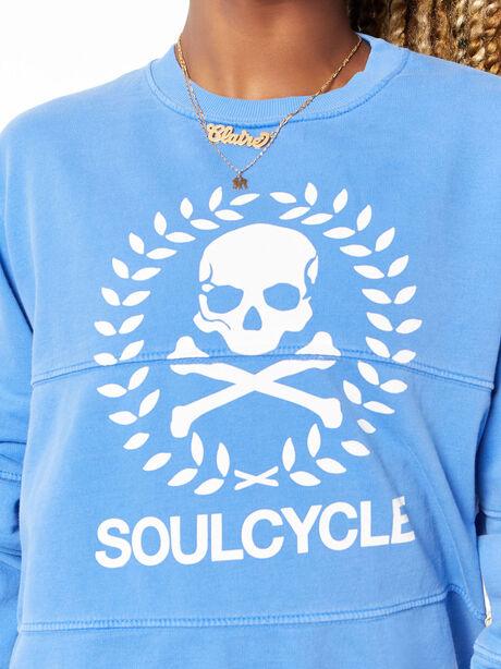 Split Seam Derek Sweatshirt Crest Blue, Blue, large image number 1