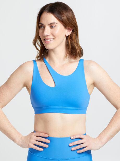 Peak Sports Bra, Blue, large image number 1