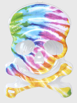 Tie Dye Skull Pool Float, Multi Color, large