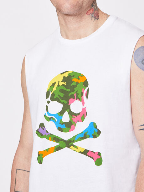 Pride Activate Muscle Tank White, White, large image number 1