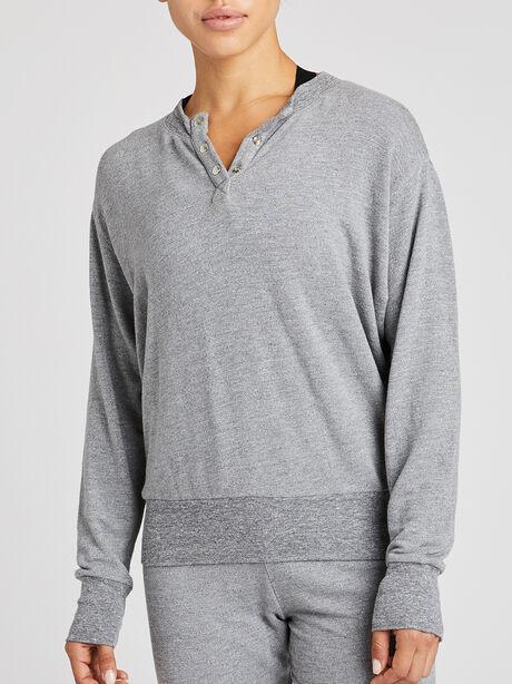 Embroiderry Sweatshirt, Heather Grey, large image number 1