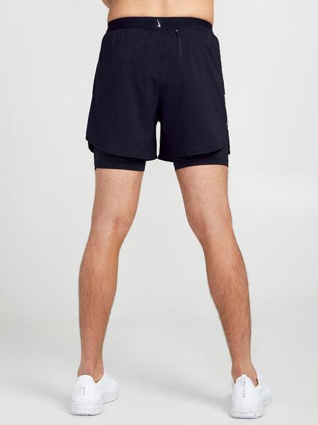 """Flex Stride 2-in-1 Running Shorts 5"""", Black/Black/Ref Slvr, large image number 2"""