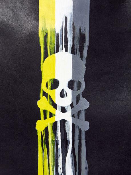 Big Daddy Dripping Skull Bag, Black, large image number 1