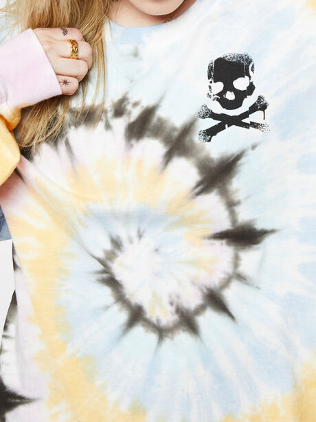 Oversized Tie-Dye Long Sleeve Shirt, Tie Dye, large image number 2