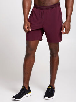 "SESSION SHORT 7"" lined maroon, Maroon, large"