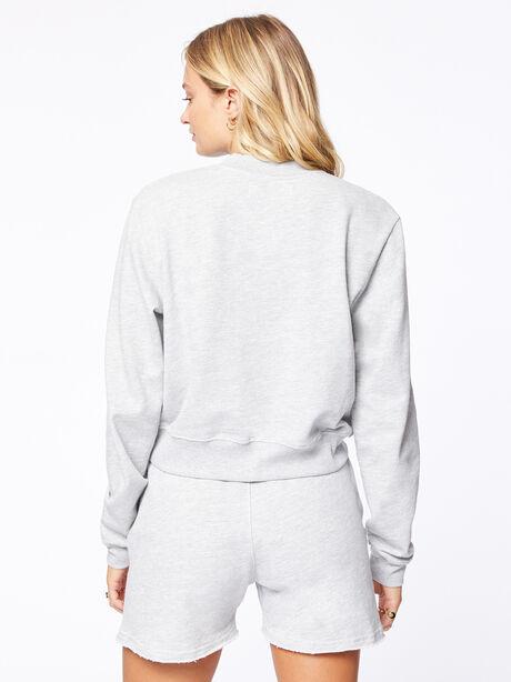 Laura Crop Sweatshirt Grey, Grey, large image number 3