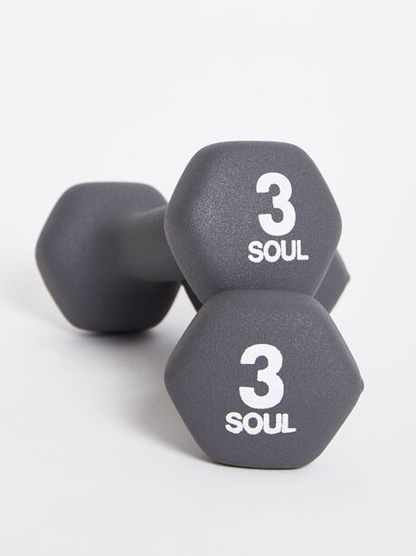 3 lb Weight Set, Grey, large image number 0