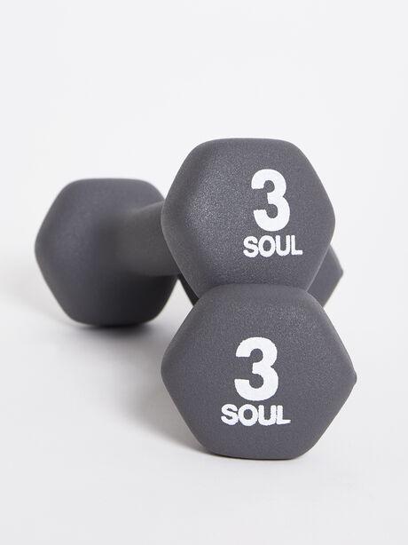 3 lb Weight Set, Grey, large image number 0