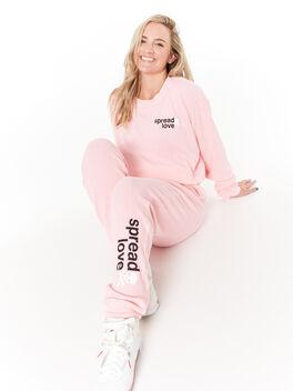 Emily Waffle Sweatpant Pink, Pink, large