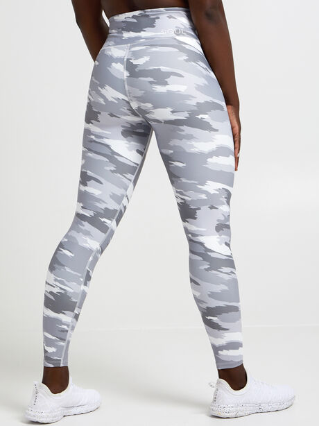 Brushed Camo Leggings, Light Grey Camo, large image number 1