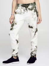 Army/White Sayde Sweatpant, Green Ombre, large