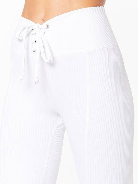 Ribbed Football Legging White, White, large image number 1