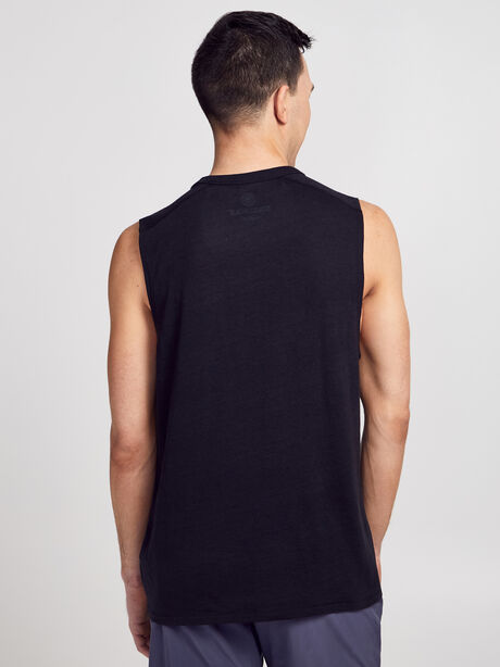 Muscle Tank Top, Black, large image number 2