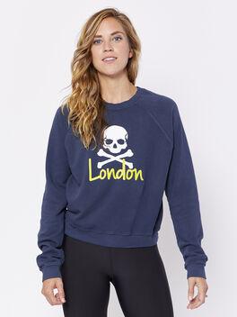 London Skull Sweatshirt, Black, large