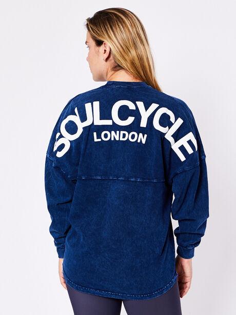 London Long Sleeve Mineral Wash, Blue Mineral Wash, large image number 1