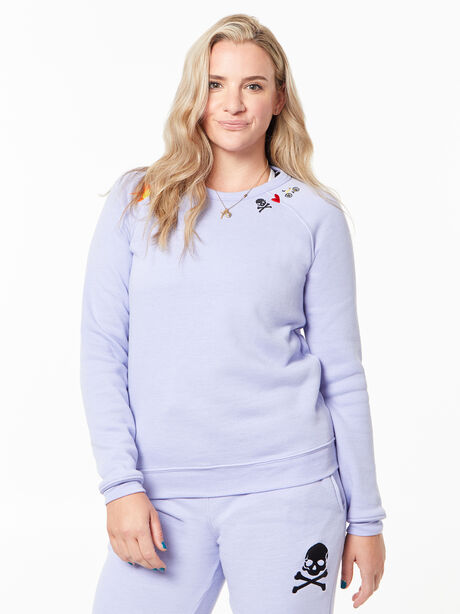 Classic Crew Pullover Purple, Purple, large image number 0