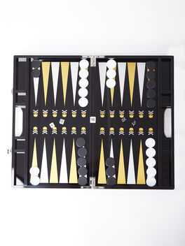 Exclusive Backgammon Set, Black/Yellow, large