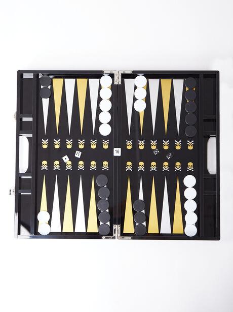 Exclusive Backgammon Set, Black/Yellow, large image number 0