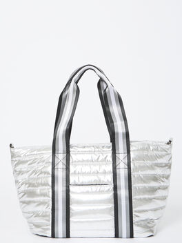 Junior Wingman Bag-Silver Foil, Silver, large