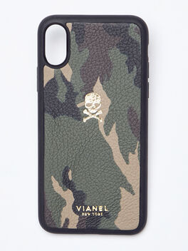 iPhone X/XS Calfskin Case, Camo, large
