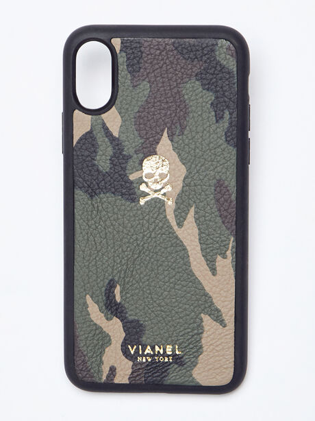 iPhone X/XS Calfskin Case, Camo, large image number 0