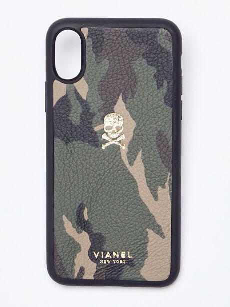 iPhone X/XS Calfskin Case, Camo, large image number 0