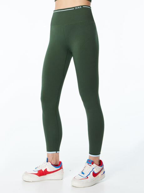 Ribbed Seamless Bra and Legging Kit Green, Green, large image number 4