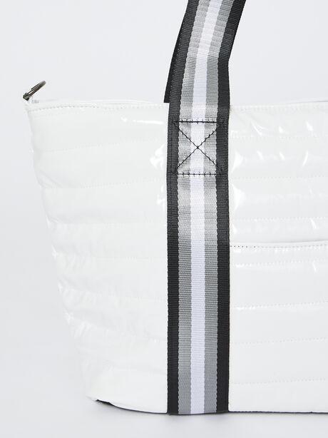 Junior Wingman Bag-White Patent, White, large image number 1