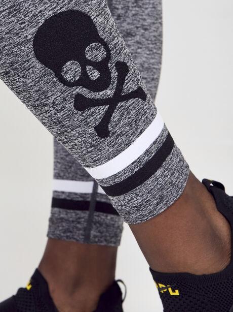 Melange Seamless Leggings, Grey, large image number 3