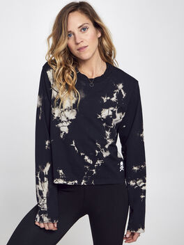 After Class Long-Sleeve Shirt, Obsidian/White, large