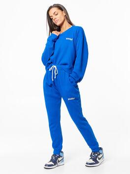 Emily Waffle Long Sleeve Blue, Blue, large