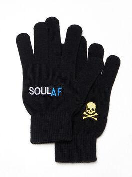 SoulAF® Gloves Black, Black, large
