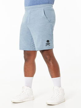 """Pace Breaker Short 9"""" Lined Heather Allover Chambray Blue, Heather Allover Chambray Blue, large"""