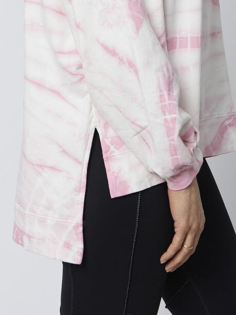 Neil Tie-Dye Sweatshirt, Pink, large image number 1