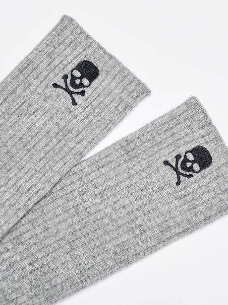 SKULL LEG WARMER- CASHMERE BLE, Grey, large image number 1