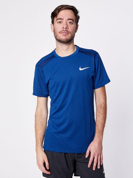 Cool Miler Short-Sleeve Top, Blue Void/Htr, large image number 0