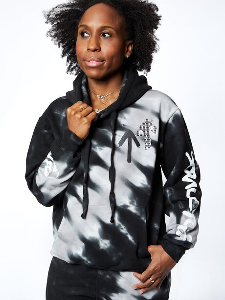 Kingsley Hoodie, Tie Dye/Black, large image number 1