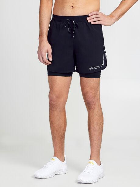 """Flex Stride 2-in-1 Running Shorts 5"""", Black/Black/Ref Slvr, large image number 0"""