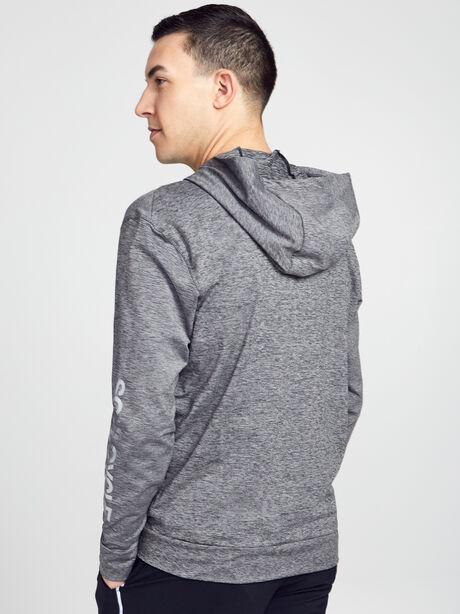 Dry Hoodie Full-Zip Hyperdry Lite Sweatshirt, Black/Htr/Black, large image number 2