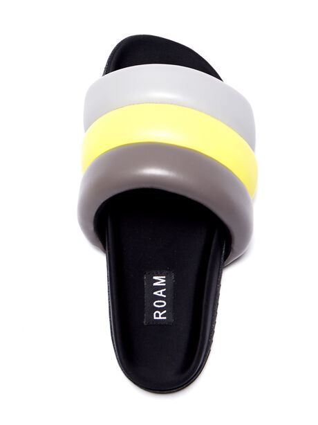 Exclusive The Puffy Slide Yellow/Grey, Yellow/Grey, large image number 1