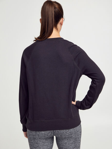 Old-School Crewneck Sweatshirt, Black, large image number 2
