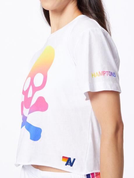 Exclusive Boyfriend Tee White/Rainbow Hamptons, White, large image number 0