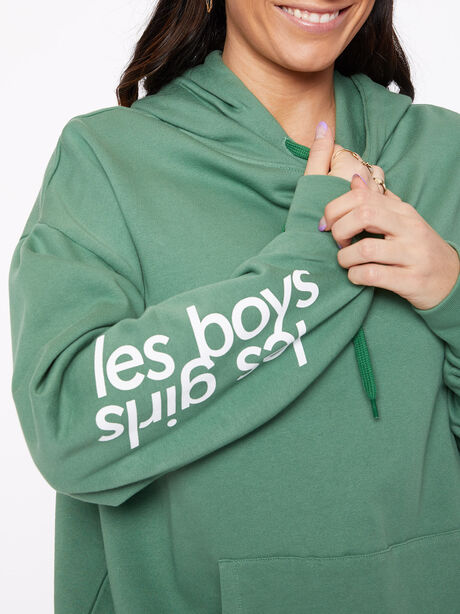 Oversized Hoodie Myrtle Green, Green, large image number 2