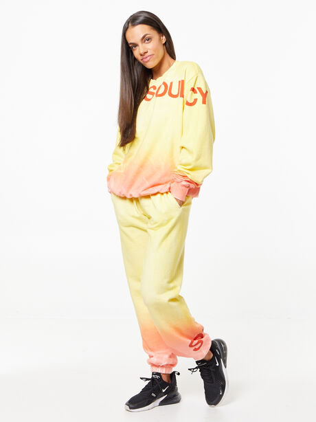 SOUL Green Recycled Cotton Billie Sweatpant Orange/Yellow, Yellow, large image number 2