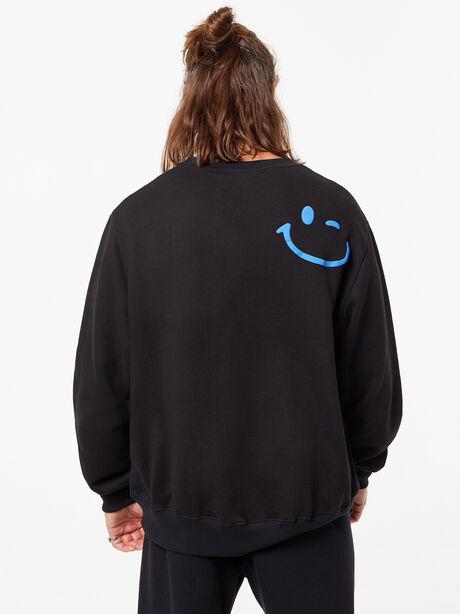 Derek Crew Neck Sweatshirt Black, Black, large image number 4