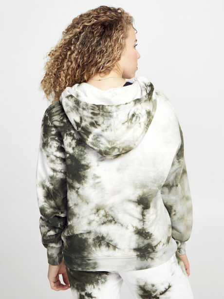 Army/White Lisette Hoodie, Green Ombre, large image number 2
