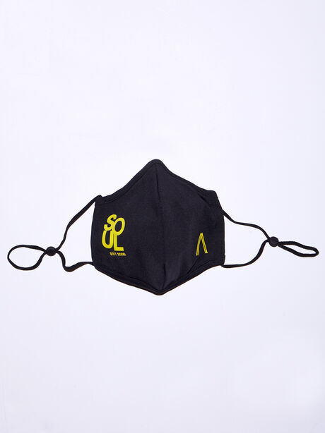 The SoulCycle Face Mask, Black/Yellow, large image number 2